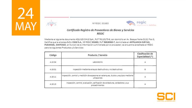 certificado regic